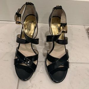 Ladies Michael Kors black patent high heels